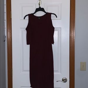 Maroon bodycon dress